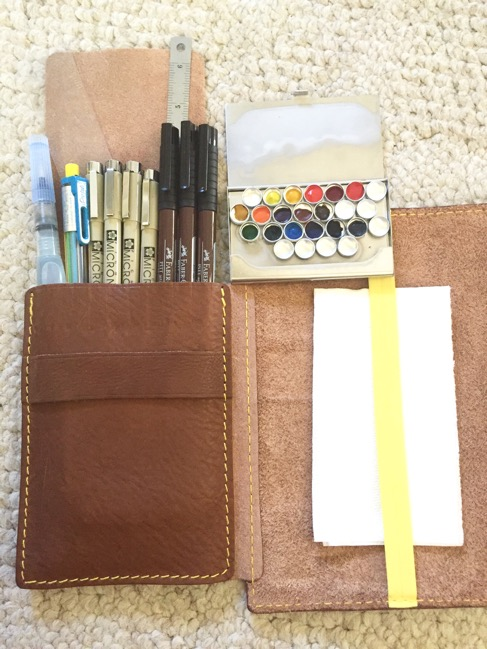 Planners, travelers notebook, bullet journal, one book July, naked cow, naked cow artist journal, micron, faber-castell, winsor & newton, pentel aquabrush, pentel multi pencil