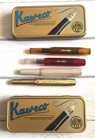 fountain pen, affordable fountain pen, Kaweco, Kaweco Sport, Kaweco Classic Sport, Kaweco Skyline Sport, Kaweco Brass Sport, Kaweco tin