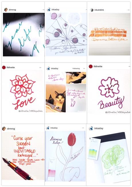 fountain pen ink, fountain pen, instagram challenge, #30daysofinks