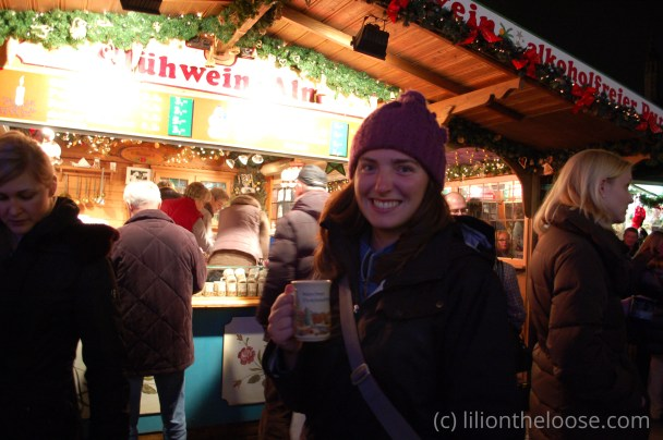 My little sister, getting her first (and only) mug in Munich.