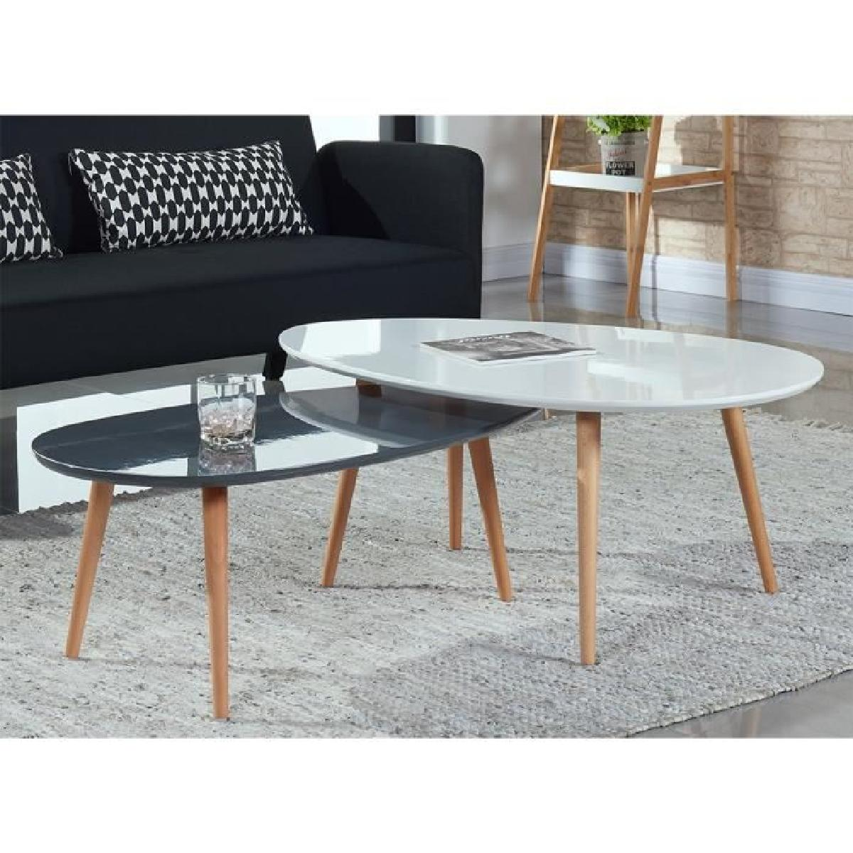 Table Basse Scandinave Blanche Table Basse Scandinave Grise Et Blanche Lille Menage Fr Maison