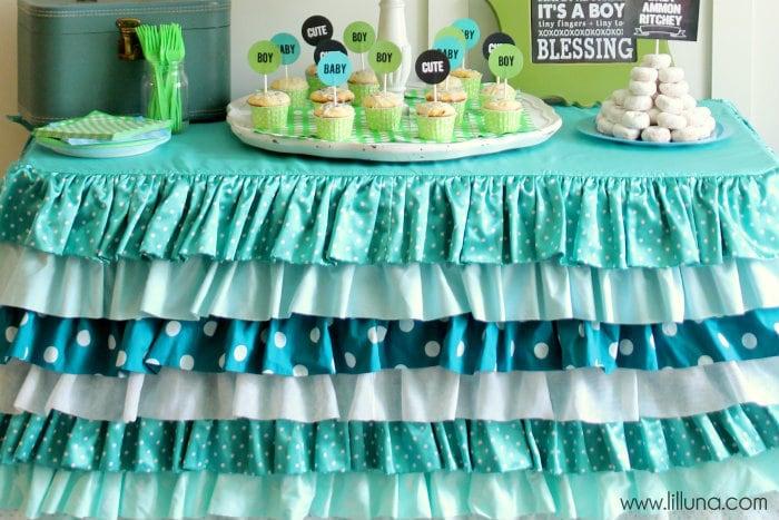 Aqua And Green Baby Shower