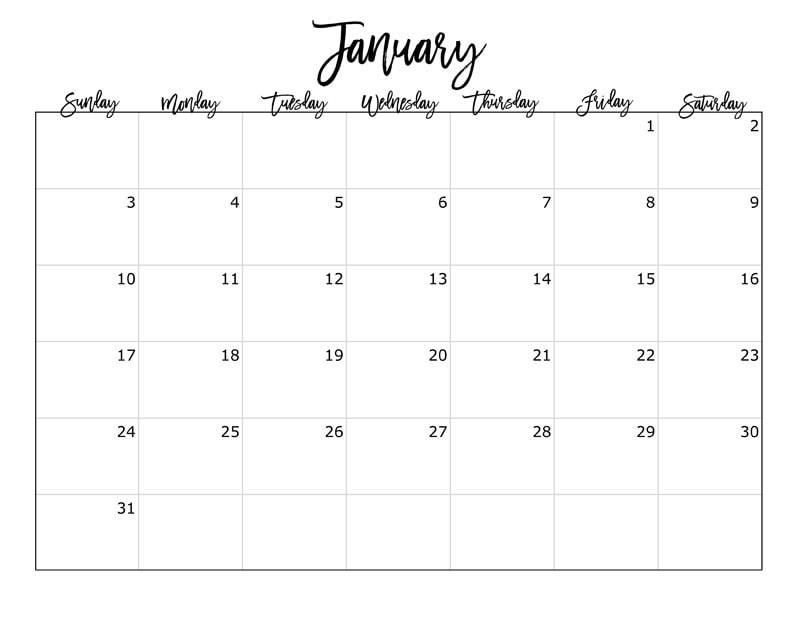 FREE 2016 Printable Calendar - printable calendar