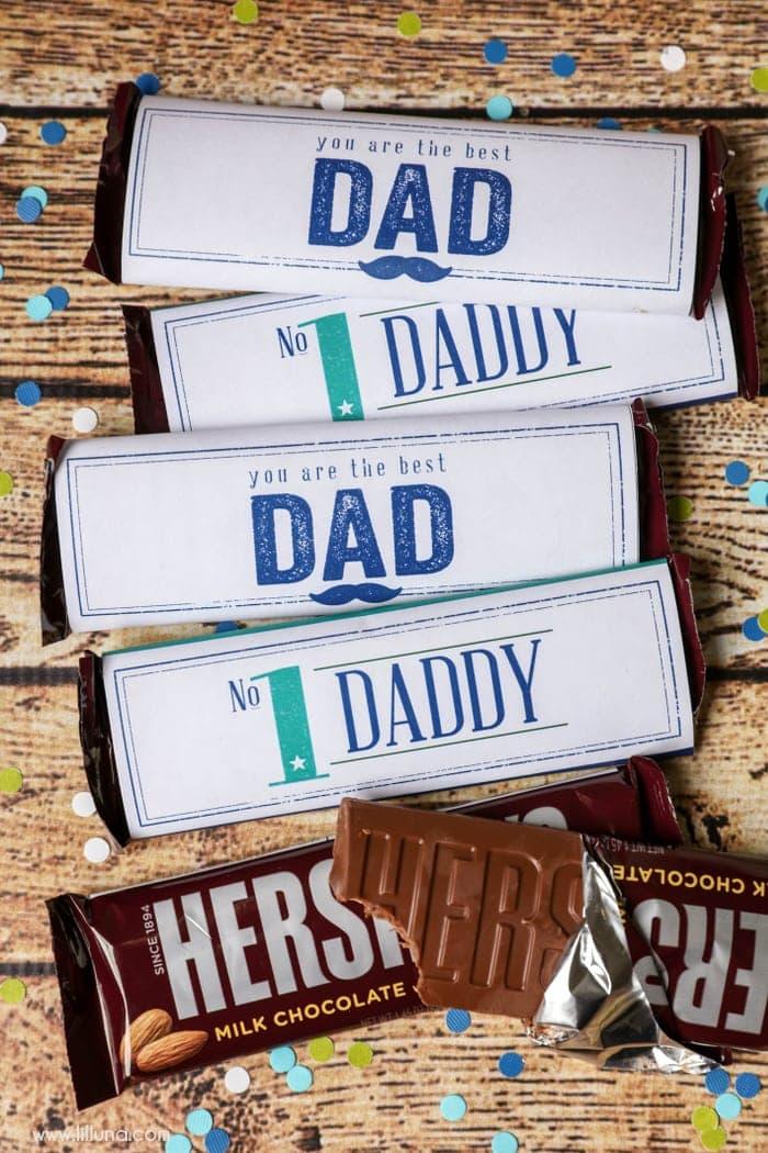 Father\u0027s Day Candy Bar Wrappers - Lil\u0027 Luna