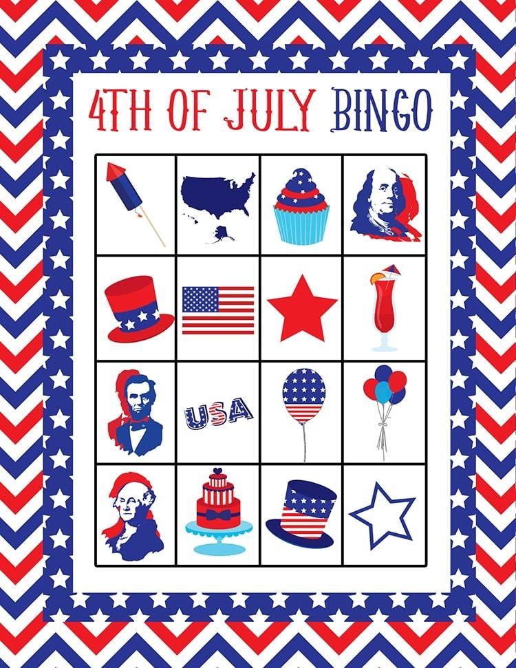 FREE 4th Of July Bingo Printable - Lil\u0027 Luna