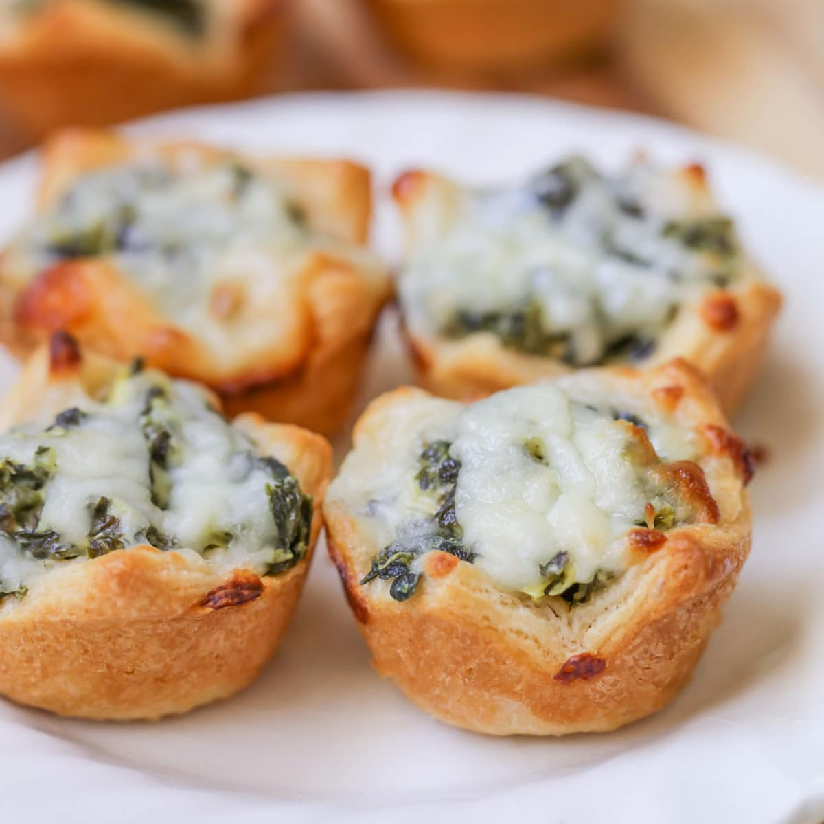 Healthy Christmas Appetizers Pinterest Spinach Dip Bites Recipe