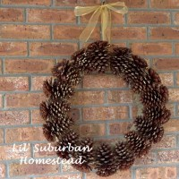 Too Many Pine cones In Your Yard? Make a DIY Pine Cone Wreath!