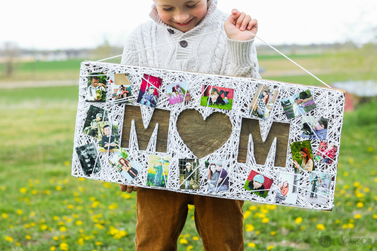 Awesome Diy Mother's Day Gifts Mother S Day Gift Ideas Personalized Diy String Art Photo