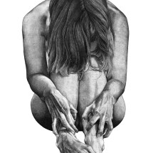 Emerging, ink on paper, 76 x 112cm, 2015