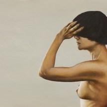 Self portrait, oil on board, 2011