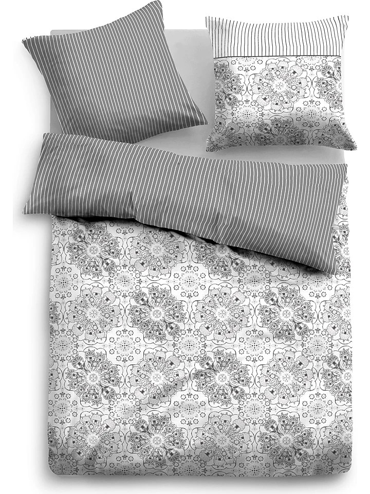 Tom Tailor Bed Bath Satin Bettwäsche Set In Grau Günstig