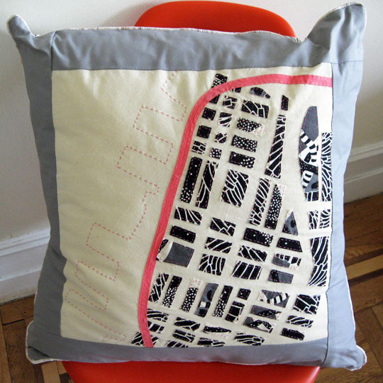 Haptic Labs soft map pillow (Brooklyn)
