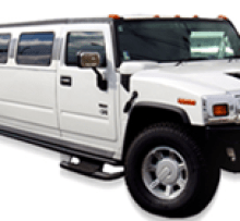 White H2 Hummer 18 passenger for night outs photo