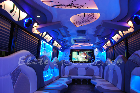 Ceiling Lights Led Near Me Elite Chicago Limo: Palace Chicago Party Bus!