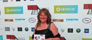 Angie with certificate
