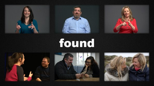 The poster for Found, Charlie's documentary