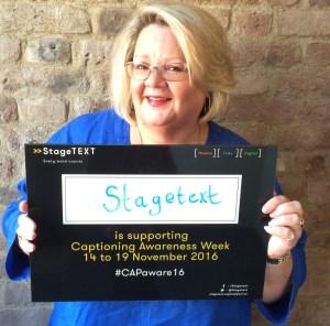 Melanie Sharpe, CEO of Stagetext