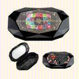 Korean Traditional Script mother-of-pearl mini jewelry box 훈민정음 천연자개 미니 보석함
