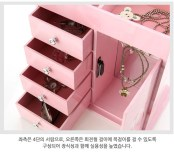 Ballerina necklace musical jewelry box with 4 drawers 발레리나 4단 목걸이 오르골 보석함