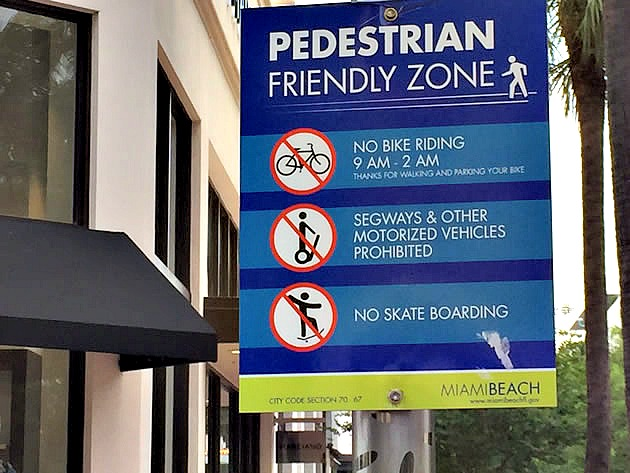 Miami Beach Bans Bikes on Lincoln Road