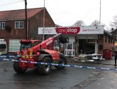 Digger used in ATM ram raid in Kirton in Lindsey