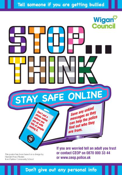 How to stay safe online The LINC Blog - poster on line