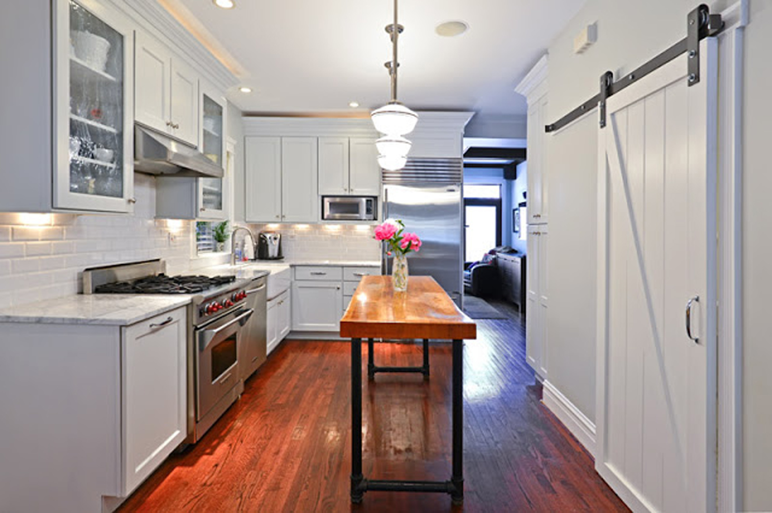 Barn Door Style Kitchen Cabinets Victorian Renovation And Design Lincthelendesign