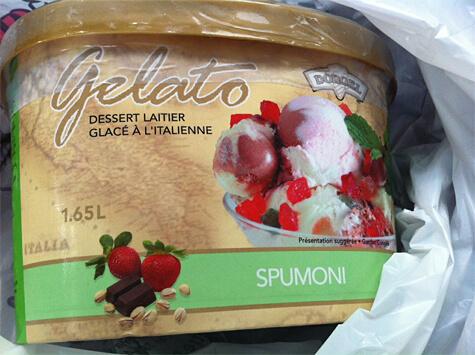 Spumoni gelato!