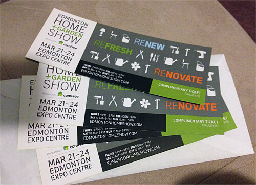 I'll be giving away two pairs of tickets to the Edmonton Home + Garden Show in the coming weeks!!