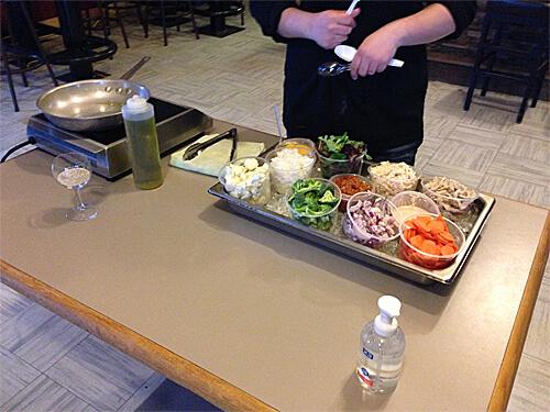 Stir-fry cooking station!