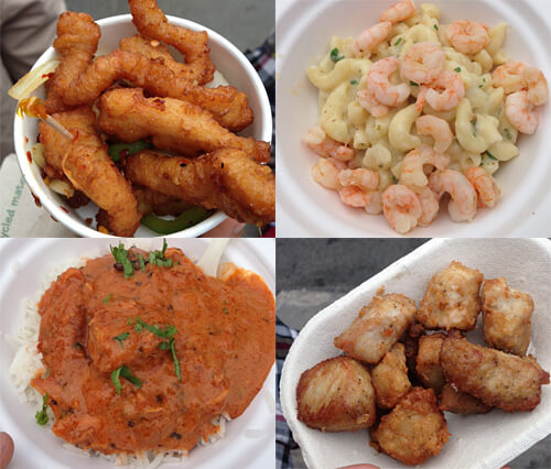 Dry spicy chicken, butter chicken, smoked mac and cheese with shrimp!