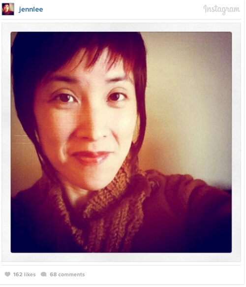 Instagram user @jennlee posted the first #selfie.