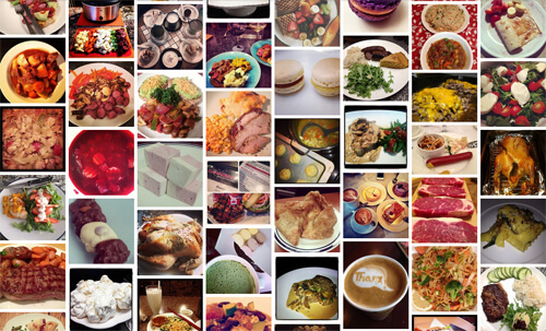 A collage of Edmonton gastroposts shared in the past few weeks. Photo supplied.