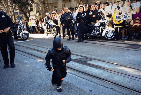 """""""It's not who you are underneath, it's what you do that defines you."""" Go #SFBatKid!"""