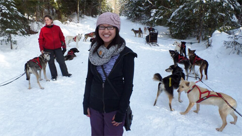 Before we take off on the dog sleds!