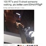 A man was arrested after tweeting he would shoot someone if he got 100 RTs... Photo Credit: Digital Trends
