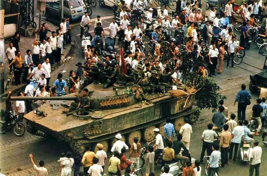 The Fall of Saigon in Vietnam on April 30, 1975. Photo Credit: vintag.es