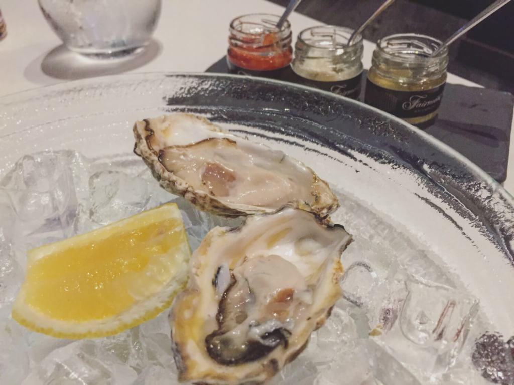 Oysters ARC Dining Fairmont Waterfront Vancouver
