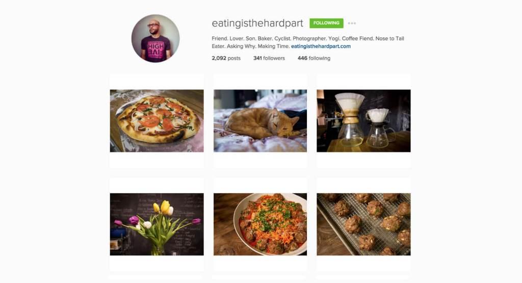 Top Edmonton Instagram Users - eatingisthehardpart - Social Media
