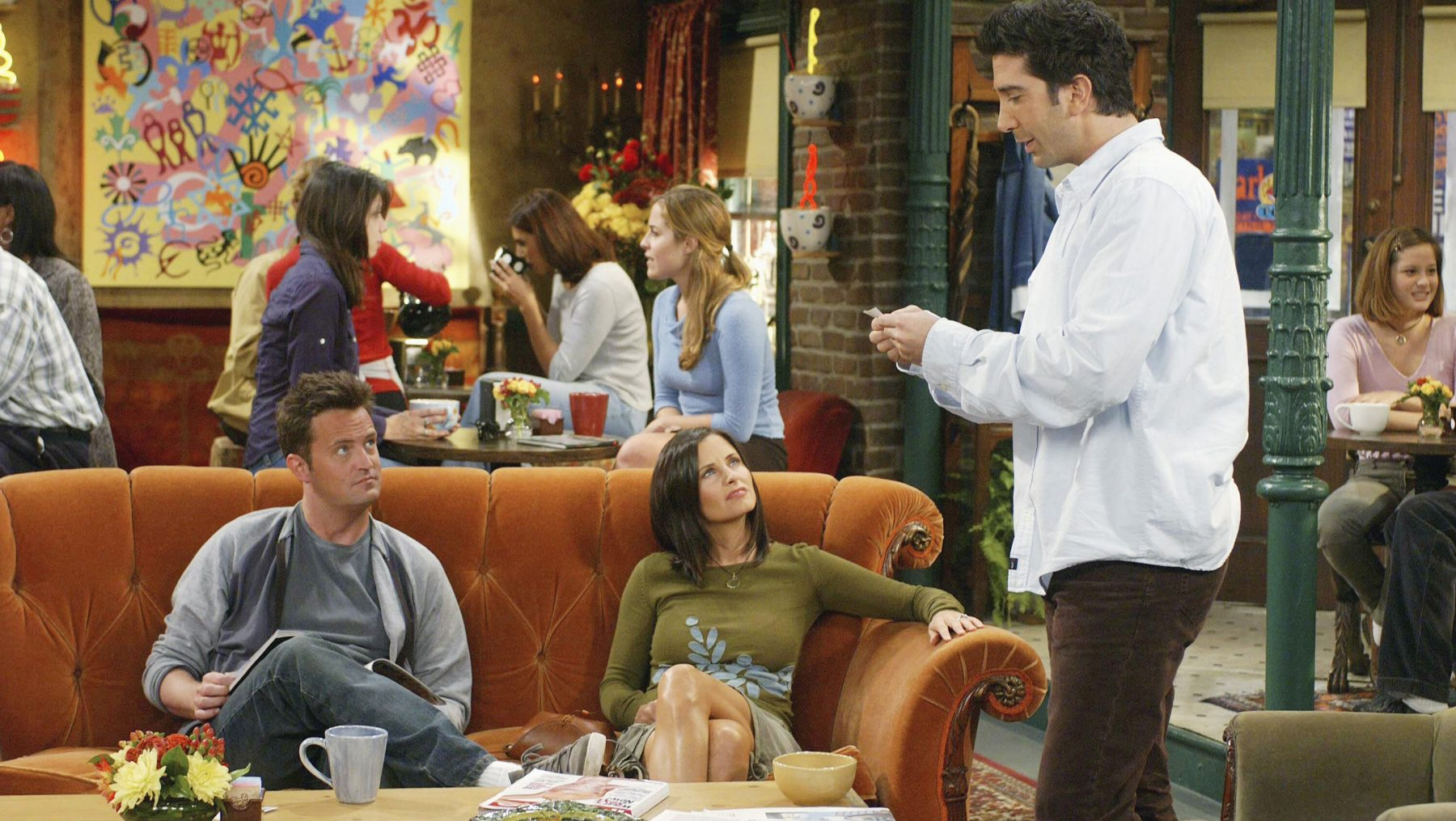 Engelse Sofa Koffie Drinken In Café Central Perk Uit Friends? In