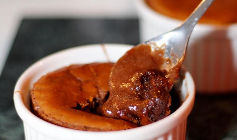 Nutella lava kaka með saltri karamellu miðju