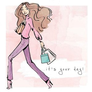 Greeting Card, Linda Byrne Illustration, Linda Byrne Fashion,