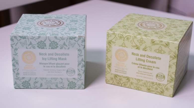 Natura Siberica Neck and Décolleté Lifting Cream and Icy Lifting Mask