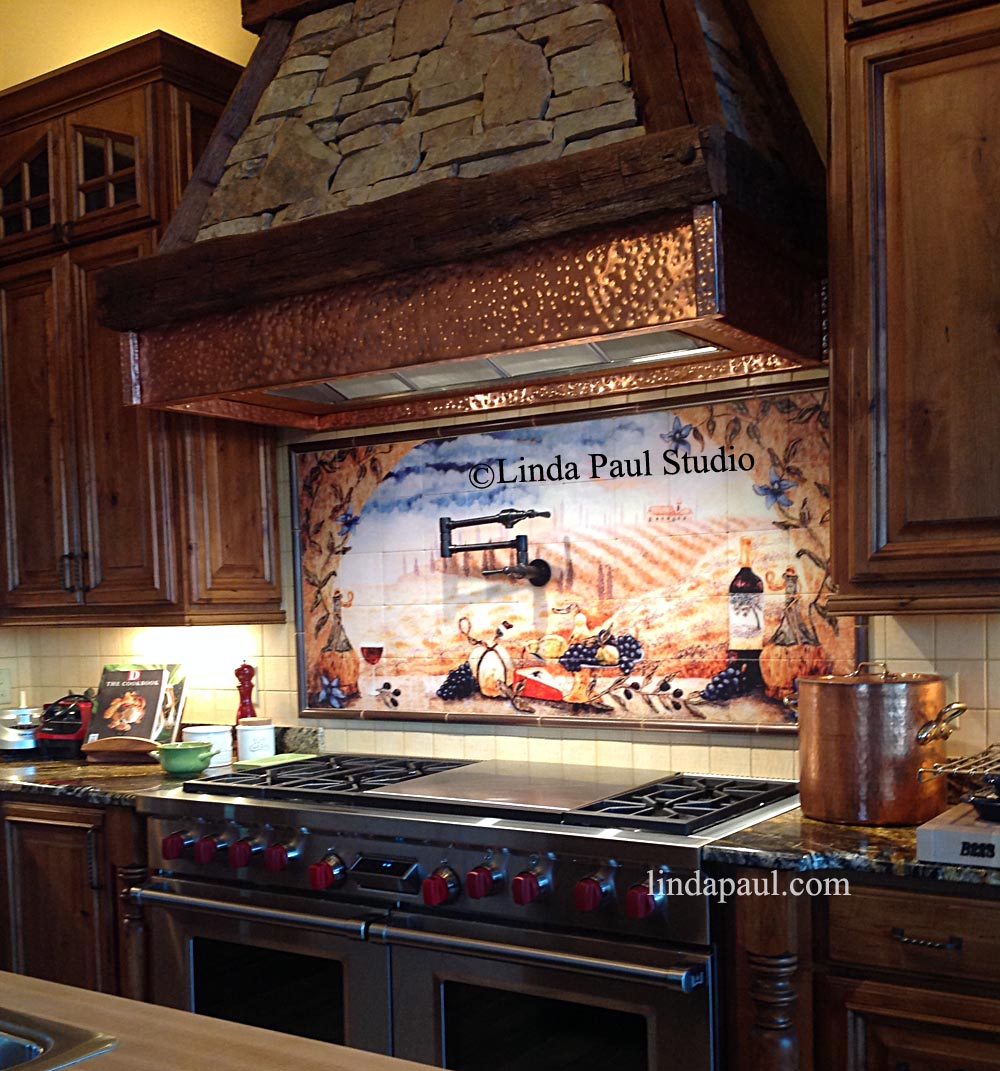 customer reviews linda paul tile murals kitchen backsplashes kitchen backsplash