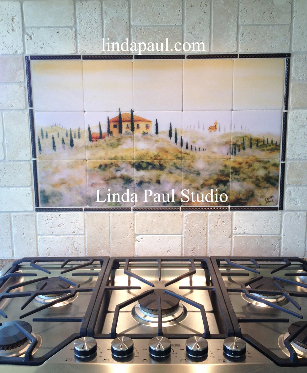 tuscan tile murals kitchen backsplashes tuscany art tiles ceramic tile mural kitchen tiles