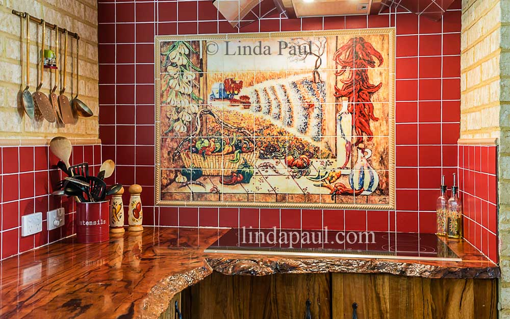 pepper kitchen kitchen tile backsplash mural red tile ceramic tile mural kitchen tiles