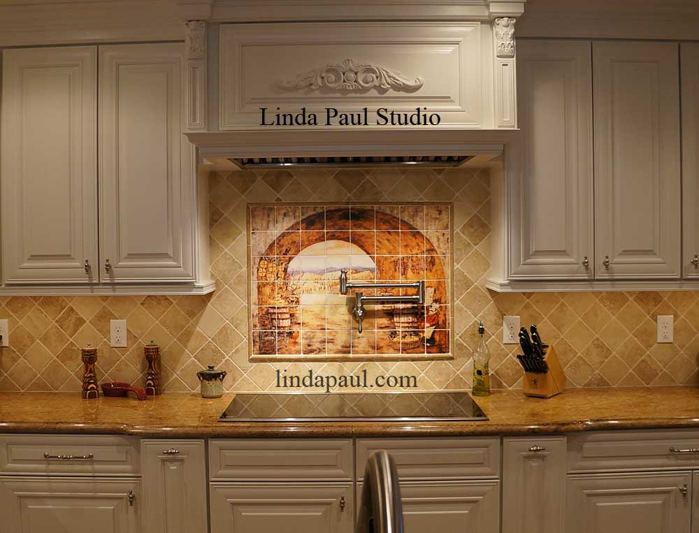 customer reviews linda paul tile murals kitchen backsplashes ceramic tile mural kitchen tiles