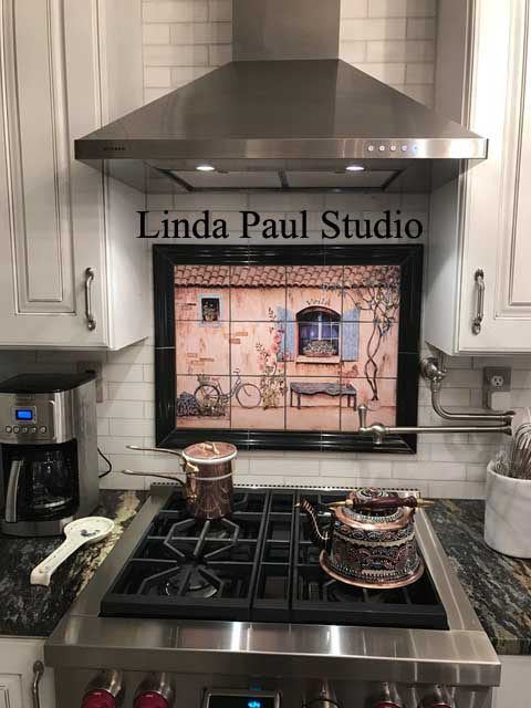 French Country Backsplash French Country Kitchen Backsplash - Tiles, Wall Murals