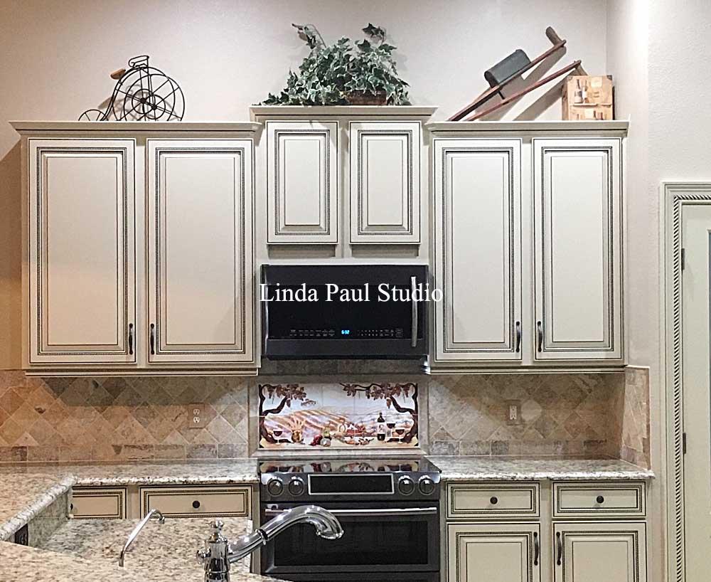 backsplash artist linda paul helps small kitchen small kitchen shimmering copper backsplash backsplashideas
