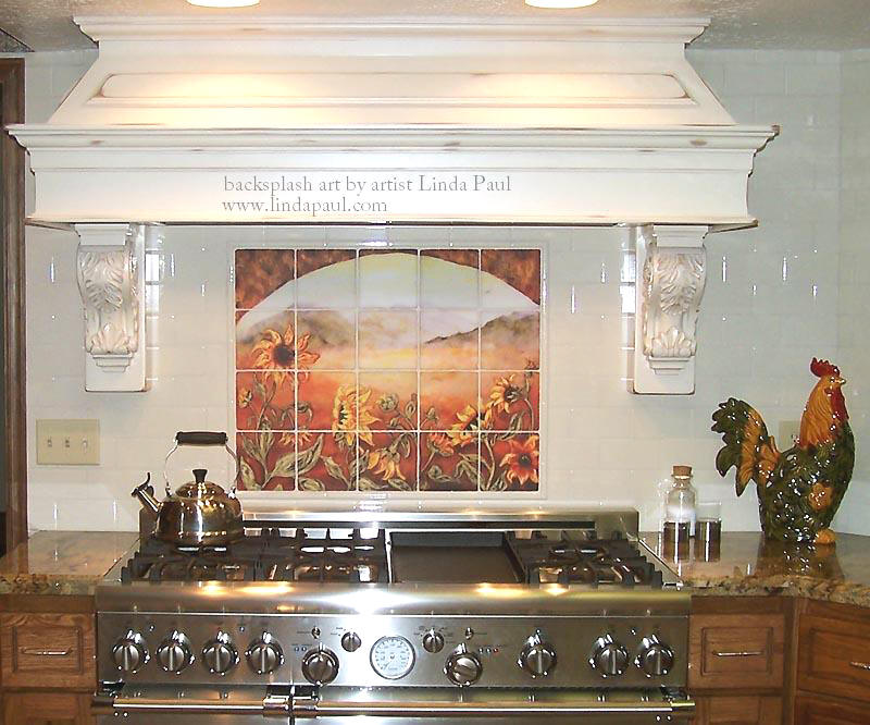 sunflower tile mural french country kitchen splash tile ceramic tile mural kitchen tiles